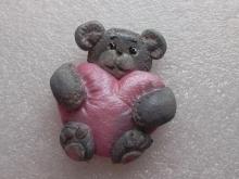 Магнит из солёного теста «Медвежонок Тедди с мягким сердцем»